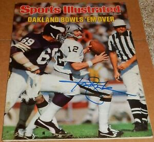 KENNY STABLER AUTOGRAPHED SPORTS ILLUSTRATED MAGAZINE