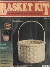 Round Basket Weaving Kit, Basket Weave, Supplies, Basket Pattern, Reed,