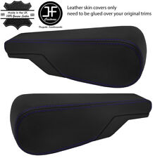 PURPLE STITCH 2X SEAT ARMREST REAL LEATHER COVERS FITS VW TYPE 3 T3 MULTIVAN