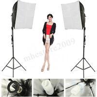 Photo Studio Set Photography Continuous Lighting Softbox Kit W/ Bulb Light
