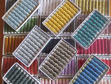 SILKA fil à broder en soie, lot de 50 bobines de 10 m, coloris assortis