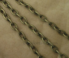 10 METRES BRONZE TONE CABLE CHAIN 5 x 3mm WHOLESALE JEWELLERY MAKING (03)