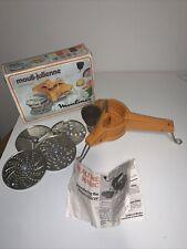Vtg Moulinex 445 Mouli-Julienne 5 disc Rotary shredder France Salad Chopper