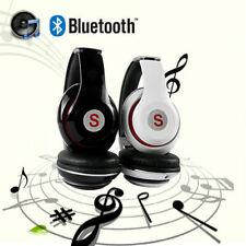 Retractable Bluetooth Wireless Headset Stereo Headphone Super HiFi Bass Earphone