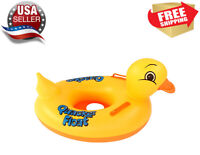 Yellow duckie baby toddler kids Swimming inflatable pool float raft ring Toy