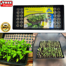 Propagation Starter Kit Plant Seed Greenhouse 72 7-PEAT Pellets Tray Dome Labels