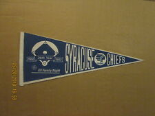 Syracuse Chiefs Vintage 26TH Year 1966-1992 GE Family Night Baseball Pennant