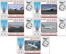 ANSETT AIRLINES CENTENARY OF FLIGHT SET OF 5 COVERS