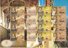 ST HELENA MNH STAMP SHEETS 2005 FAMOUS ELIZABETHANS SG 957-964