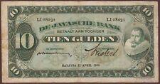 NETHERLANDS INDIES   10 Gulden  22.4.1930