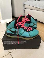 Nike Lebron 8 VIII Pre Heat South Beach Green Pink Black 417098-401 Sz 11 Preown