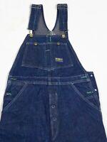 Vintage OshKosh Bib Overalls Denim Sanforized Vestbak Union USA Made Men's 30X34