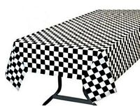 CHECKERED TABLECOVER 137 X 274CM PARTY FAVOURS SUPPLIES