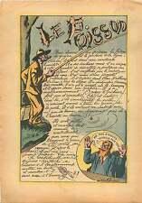 Pêcheur à la Ligne Pêche Goujon Hameçon Caricature Léon camé 1936 ILLUSTRATION