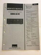 SANSUI AU-D11 AMPLIFIER ORIGINAL SERVICE REPAIR MANUAL