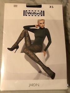 New in original package, WOLFORD Black 'Jardin' Tights size XS