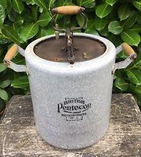 Vintage Early 20th Century Large Heavy Enamel Joseph Sankey Pressure Cooker AF
