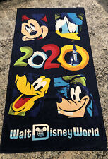 Disney 2020 Stack Mickey Minnie Goofy Donald Pluto 28x58 Beach Towel