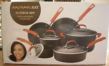 Rachael Ray Hard Anodized Nonstick Dishwasher Safe 10 Piece Cookware Set