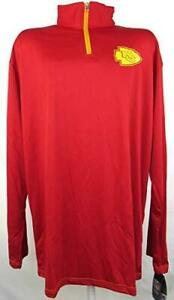 Kansas City Chiefs Mens Size XLT 1/4 Zip ThermaBase Unlined Track Jacket A1 1165