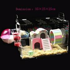 New Hamster Cage Transparent Clear View Single Layer Mice Mouse Castle Rat House