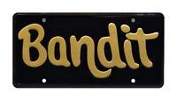 Burt Reynolds | 81 Pontiac Trans Am | Bandit | STAMPED Vanity Prop License Plate