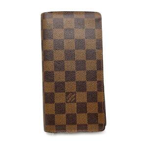 Louis Vuitton LV Long Wallet Portefeuille Brazza N60017 Browns Damier 1519999