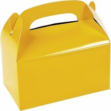 Treat Favor Boxes (6 Pack) Yellow Party Supplies Birthday Hallowen Goodie Bags