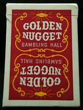 Vintage GOLDEN NUGGET Las Vegas NEVADA Casino Playing Cards RED Used Minty