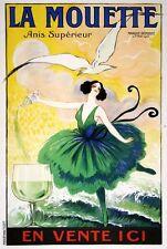 "Vintage Illustrated Travel Poster CANVAS PRINT La Mouette 16""X12"""