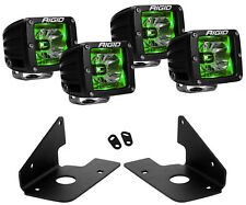 Rigid Radiance LED Fog Light Green Backlight for Chevy Silverado 1500 2500 3500