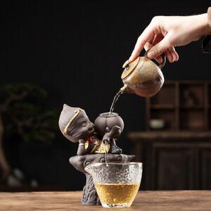 creative filter net for tea set monkey statue zisha tea pet glass pitcher China