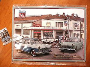 Plaque émaillée XXL Vintage Car  Atelier