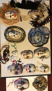 13 Porcelain Mask Masquerade Wall Decor Mardi Gras Ceramic Face nice collection