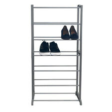 Zapatero metalico estanteria 7 alturas varillas metalica almacenamiento zapatos