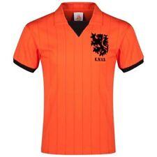 Camiseta de fútbol de manga corta naranja