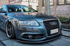 Para Audi A6 Parachoques Delantero Falda de copa del labio inferior Spoiler barbilla cenefa Divisor