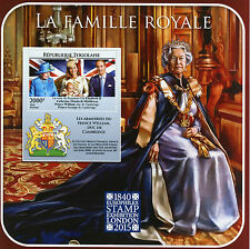 Togo 2015 MNH British Royal Family Europhilex 1v S/S Queen Elizabeth II William