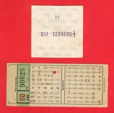 Swiss Bus/Tram Tickets ~ VBL Luzern - Lucerne: Switzerland - 1960s/70s