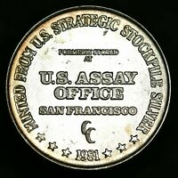 .999 Silver Round - U.S. Strategic Stockpile Silver U.S. Assay Office - COOL!