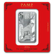 100 gram Silver Bar - PAMP Suisse (Year of the Monkey) - SKU #92813