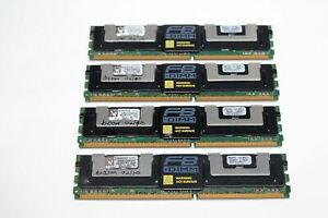 16GB (4x4GB) KVR667D2Q8F5/4G DDR2 PC2-5300F 4Rx8 667MHz ECC FB Server Memory Ram