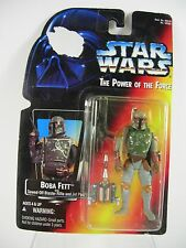 Star Wars Boba Fett Power Of The Force Red/Orange Card 1995 Full Circle on Hands