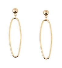 Asos Gold Long Oval Geometric Shape Minimalist Earrings