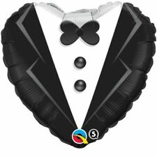 "Wedding Groom Tuxedo Heart Shape Foil 18"" Balloon Wedding Event Party Decoration"