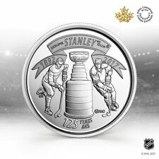 CANADA 2017 New 25 cents 125th Anniversary of the STANLEY CUP (BU From roll)