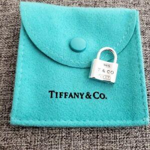 Tiffany & Co. Sterling Silver Padlock Lock 1837 Charm Pendant Rare Authentic