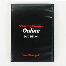 MEETING WOMEN ONLINE 5 DVD David DeAngelo How to meet date dating seduction PUA