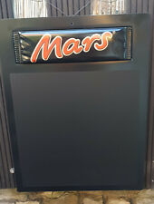 65cm MARS schoko riegel Werbe Schreib Wand Kreide Tafel Note Info Brett