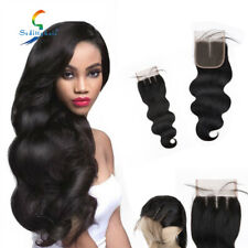 8A Body Wave Lace Frontal Closure Real Virgin Human Hair Extensions 4x4